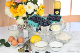 Blueberry Clafouti ingredients