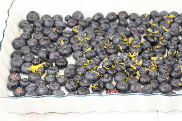 lemon and blueberry