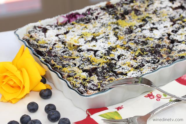 Blueberry Limoncello Clafouti