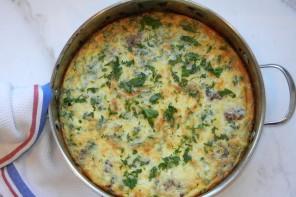 Mushroom Sausage Frittata recipe