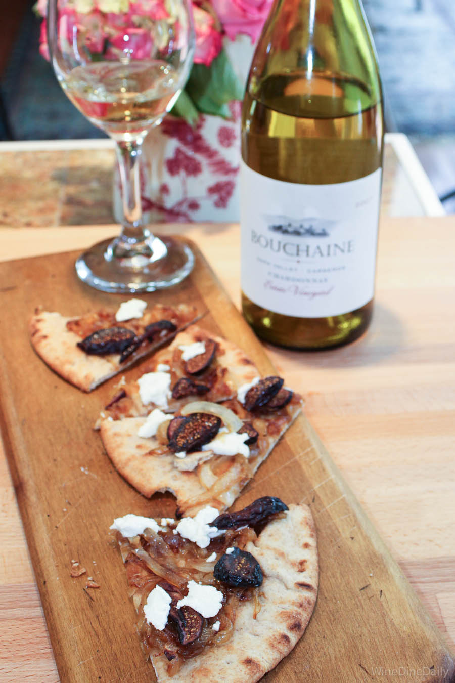 Flatbread Recipe Bouchaine Wine