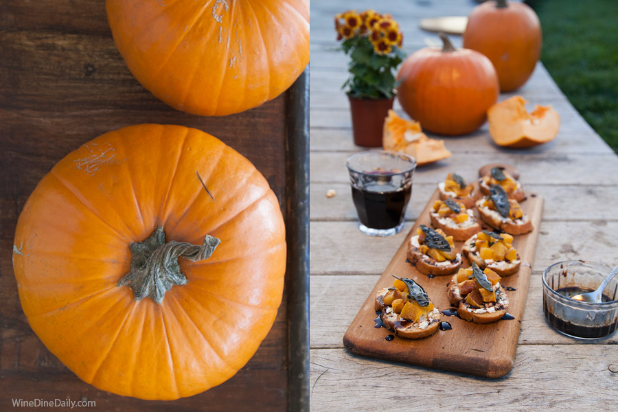 Pumpkin Crostini