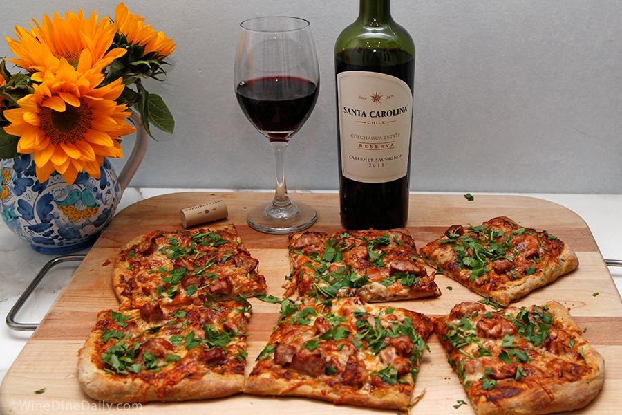 Santa Carolina Cabernet Sauvignon Pizza