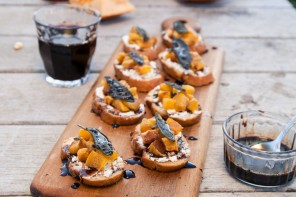Pumpkin Crostini with Sage