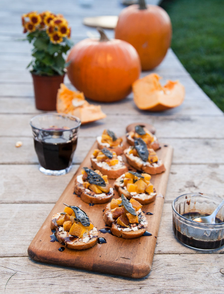 Pumpkin Crostini Sage recipe