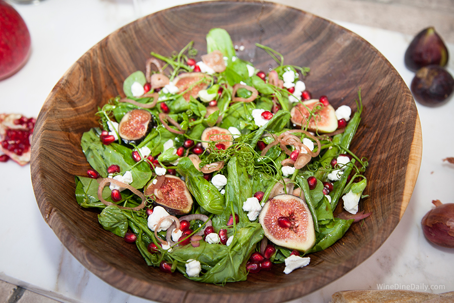 Pea Tendril Salad Figs recipe