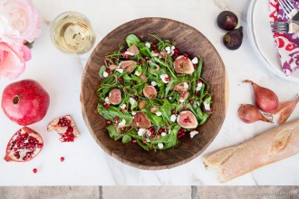 Pea Tendril Salad Figs