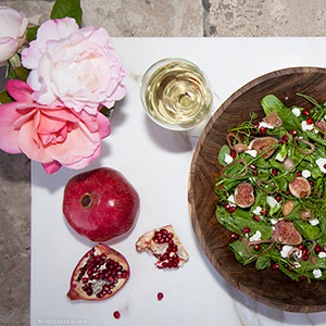 Roses Wine Pomegranate Salad