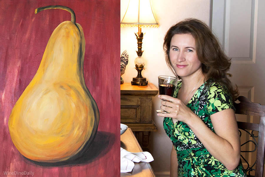 Corina Pear Painting