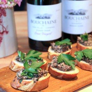 Herb Mushroom Crostini Bouchaine Wine