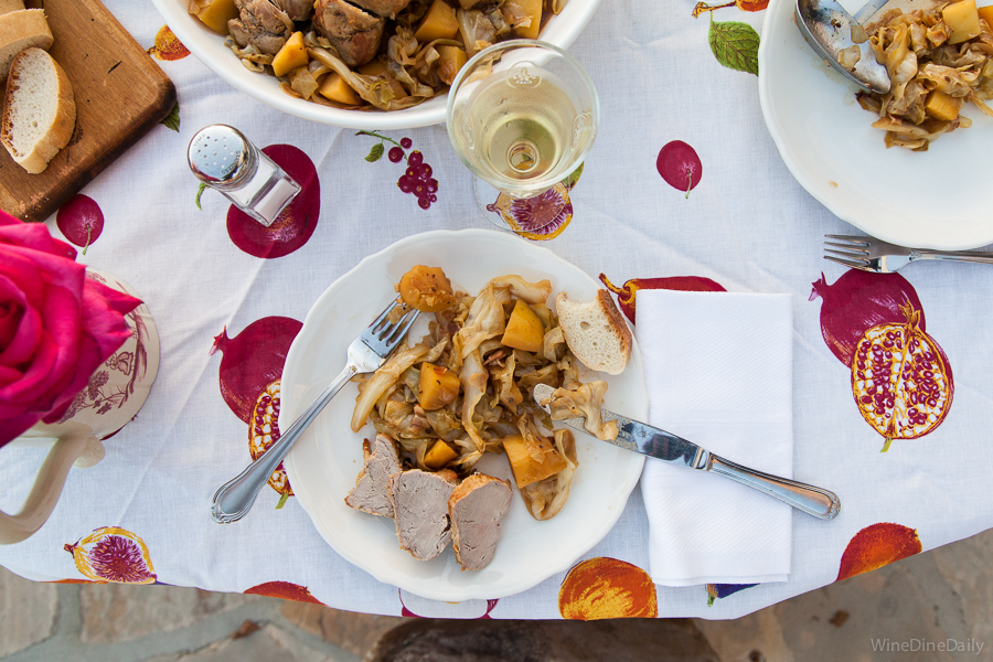 Pork and Cabbage with Riesling