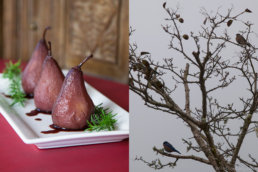 Red Wine Poached Pears Tree