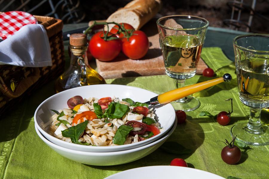 Tomato Basil Mozzarella Orzo Salad Recipe