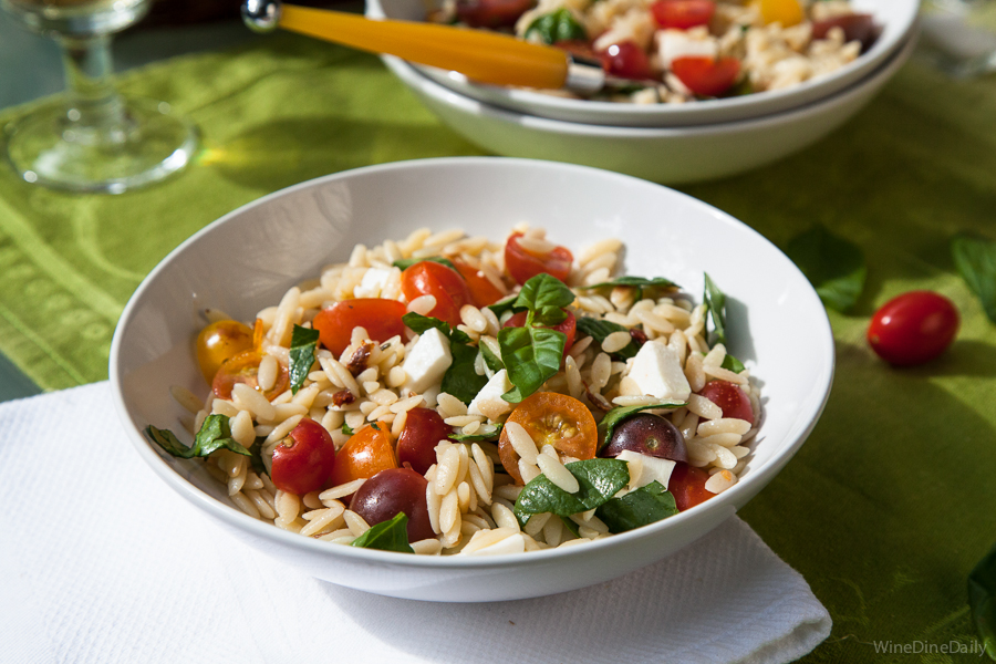 ... fresh orzo salad with orzo salad with heirloom tomato basil orzo salad