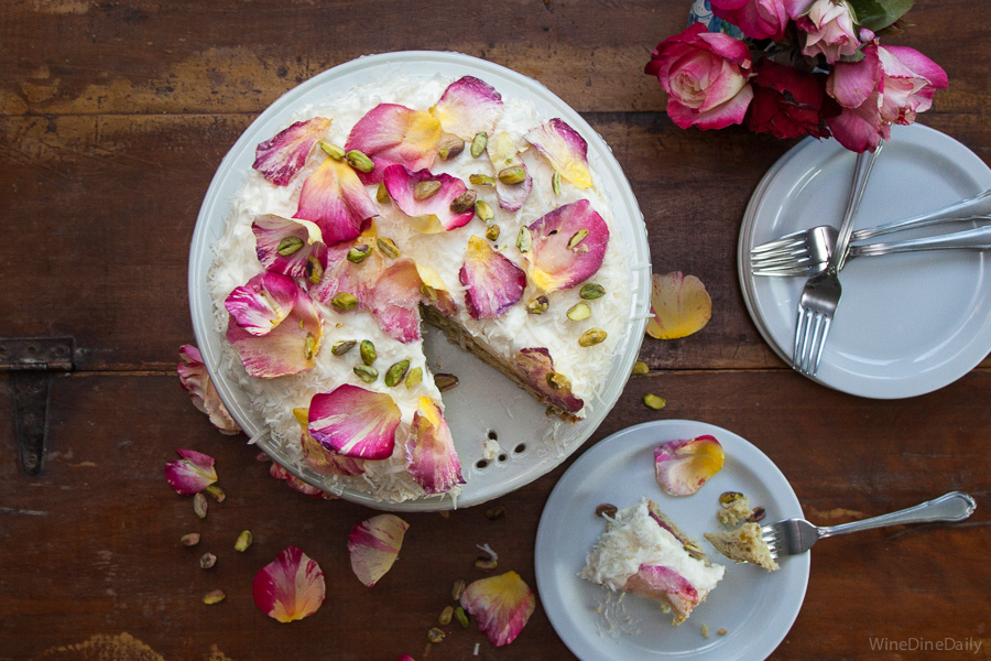 Coconut Cake Rose Petals