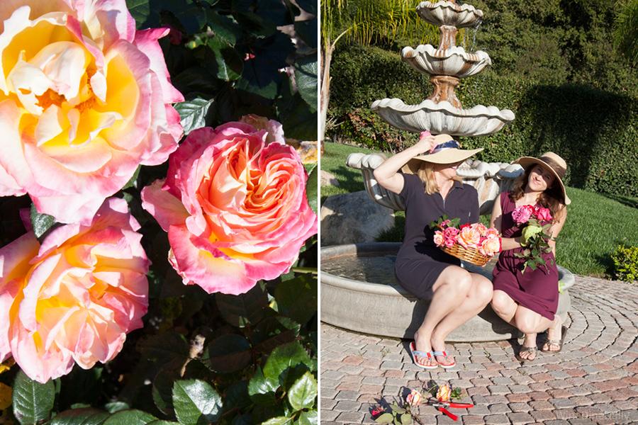 Coconut Cake Roses Fountain