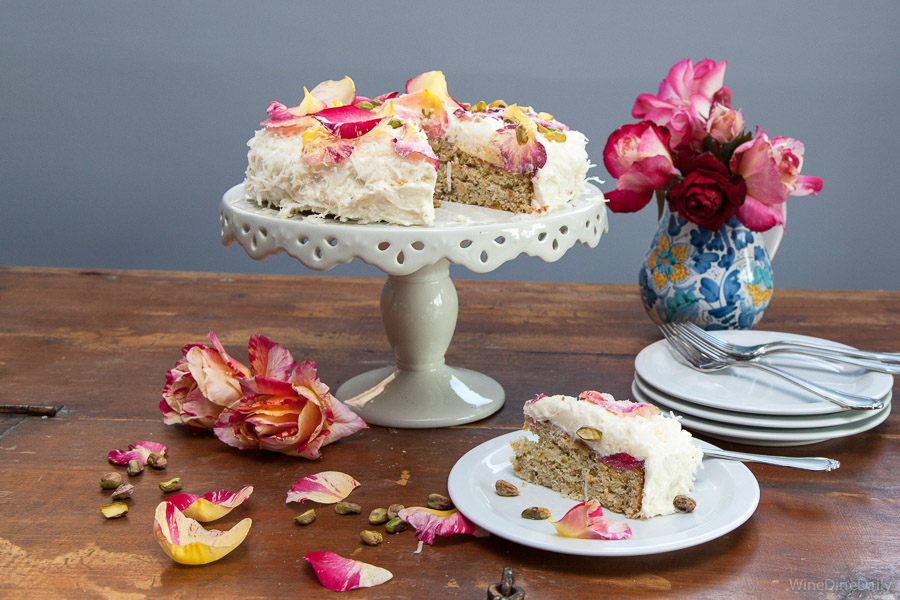 Coconut Cake Sugared Rose