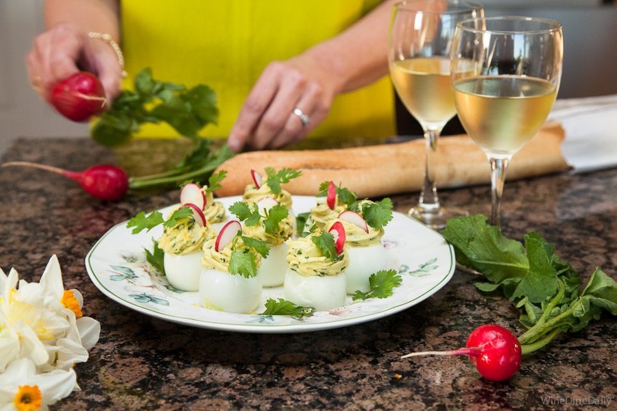 Deviled Eggs recipe Wine