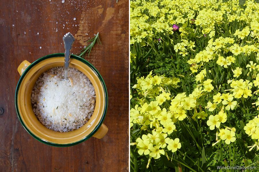 Rosemary Salt Flowers