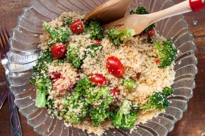 Couscous Salad Cherry Tomatoes Broccoli