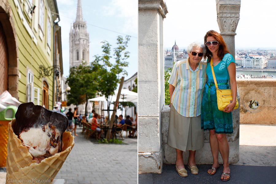 Corina and Grandma Budapest