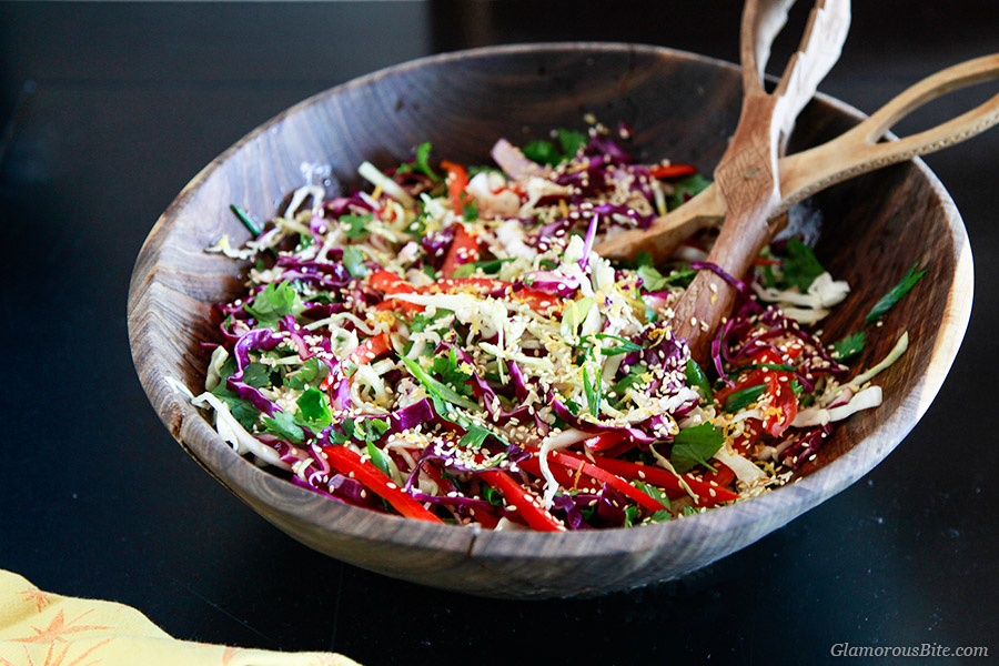Asian Style Coleslaw Vegan Recipe