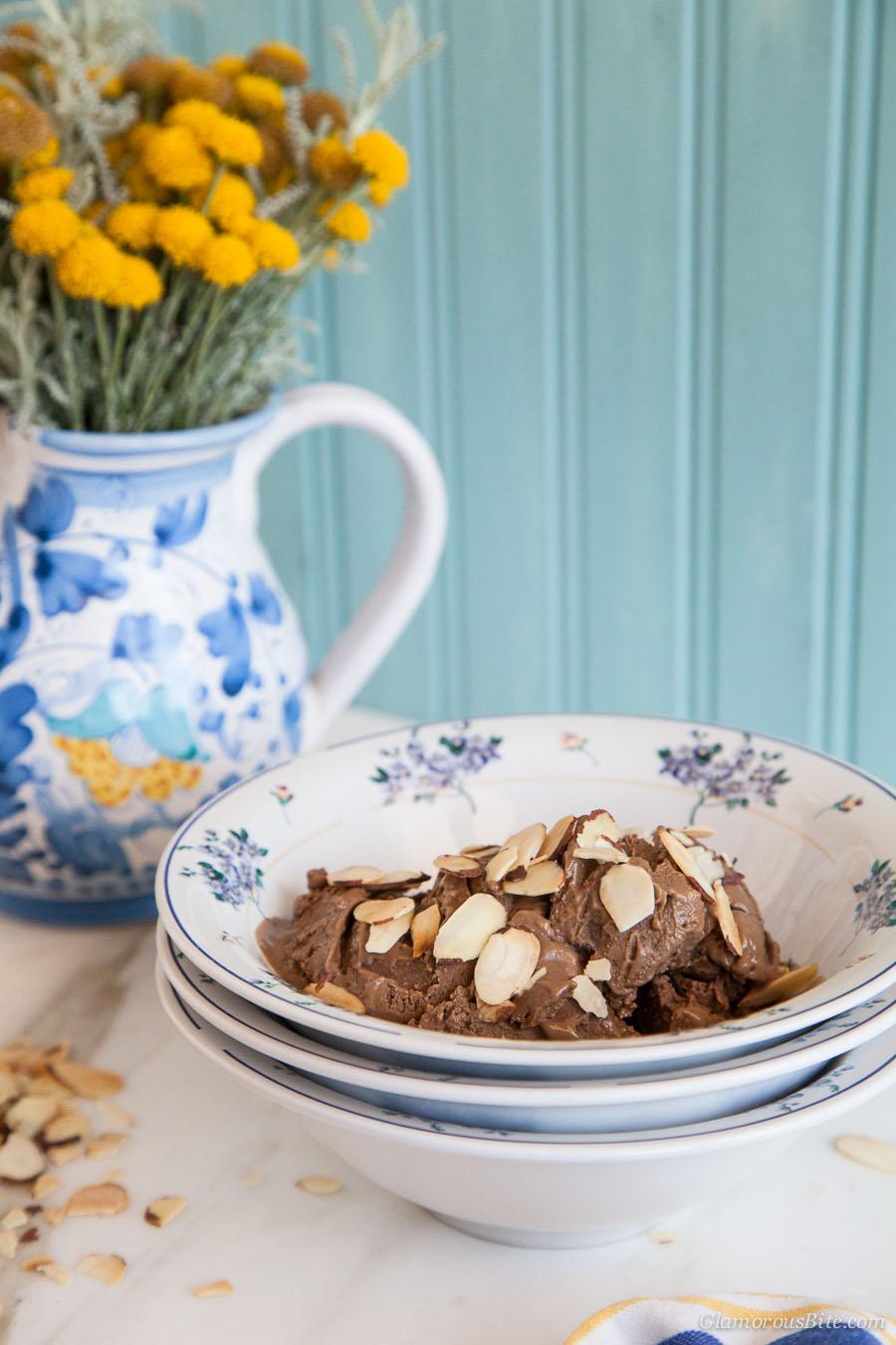 Chocolate Almond Gelato Dairy Free Gluten Free