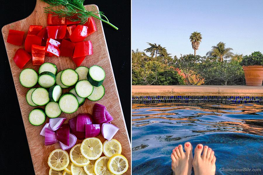 Pepper Zucchini Pool Feet