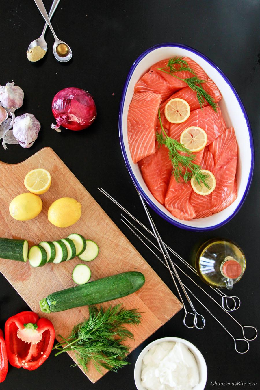 Salmon Kebabs Ingredients