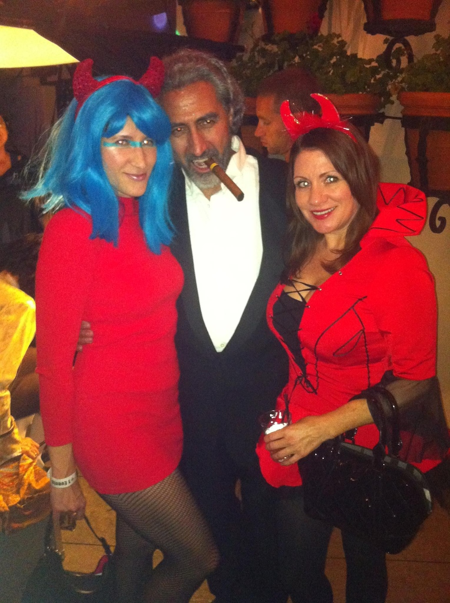 Halloween party space devil costume