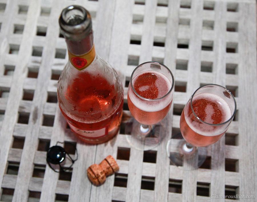 Bolla Sparkling Rose glass