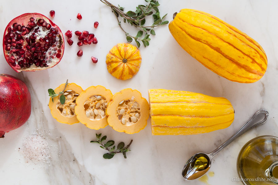 Delicata Squash Pomegranate ingredients