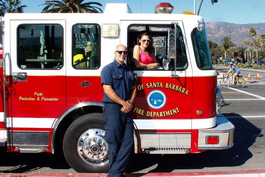 Firetruck Santa Barbara Firemen Corina