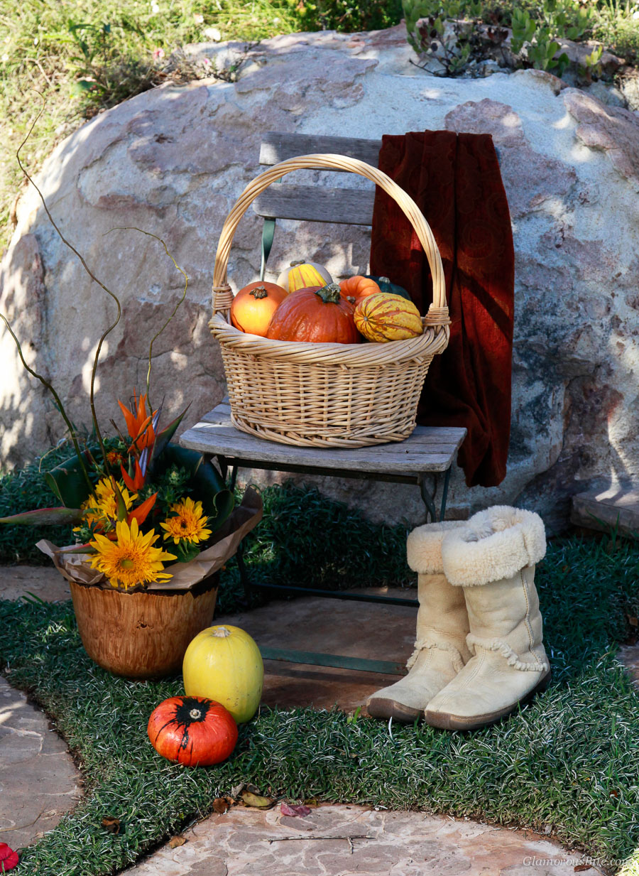 Pumpkins chair boots