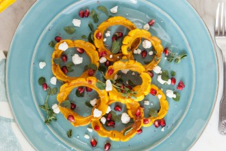 Santa Barbara Delicata Squash with Pomegranate