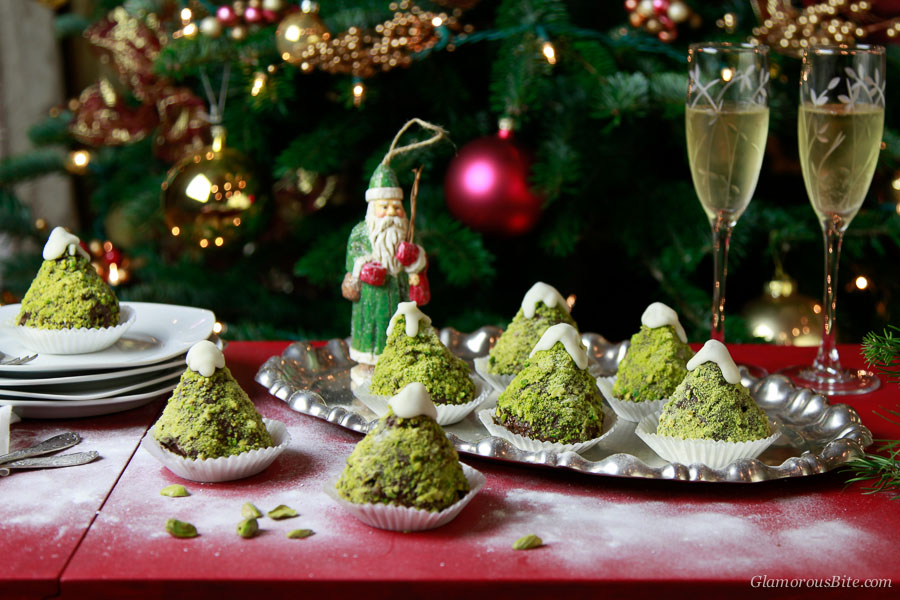 Chocolate Christmas Tree Cupcakes Recipe holiday