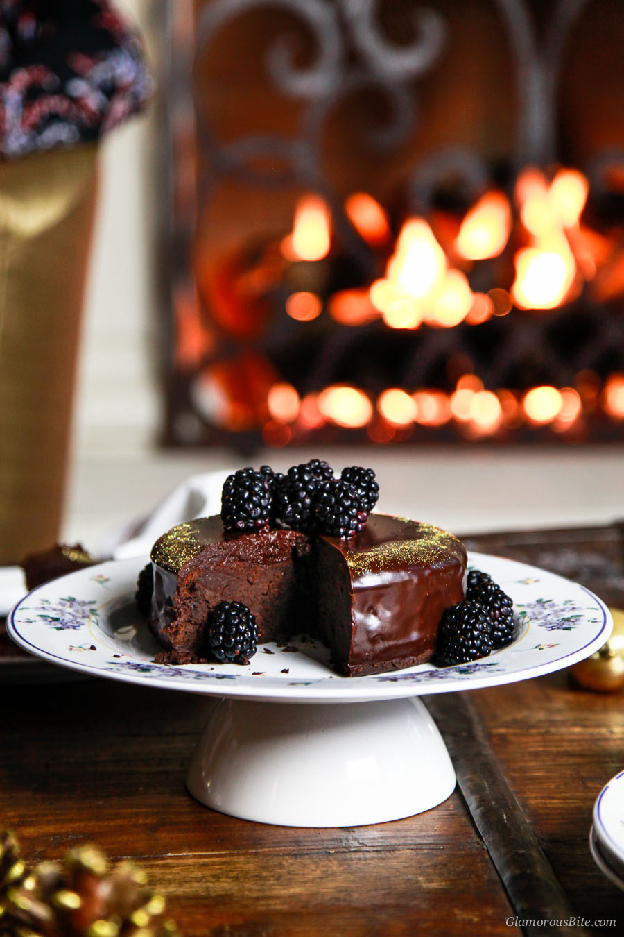 Fergalicious Chocolate Cake with Blackberry Coulis Recipe