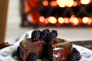 Fergalicious Chocolate Cake with Blackberry Coulis