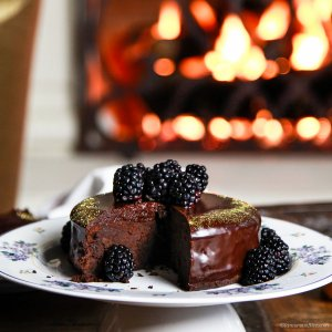Fergalicious Chocolate Cake with Blackberry Coulis Recipes