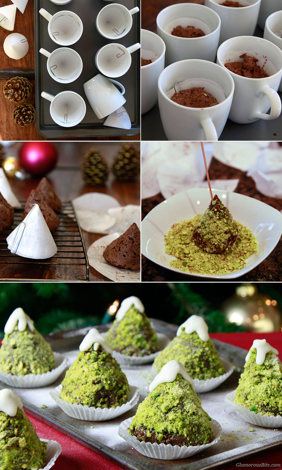 How to make Chocolate Christmas Tree Cupcakes