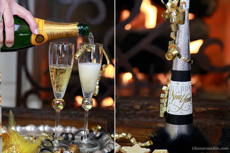 Champagne Healthy Almond Cookie New Year