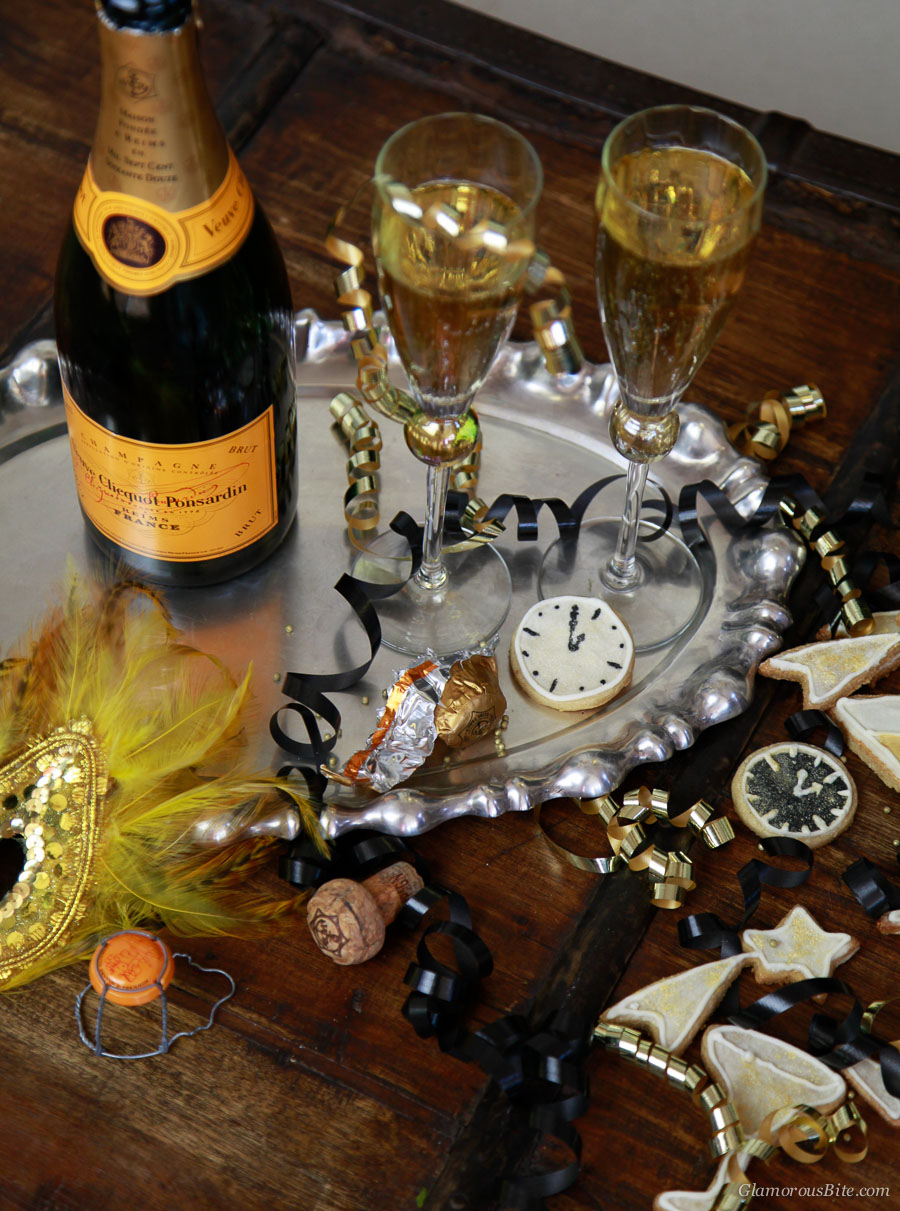 Champagne Veuve Clicquot Cookie Party