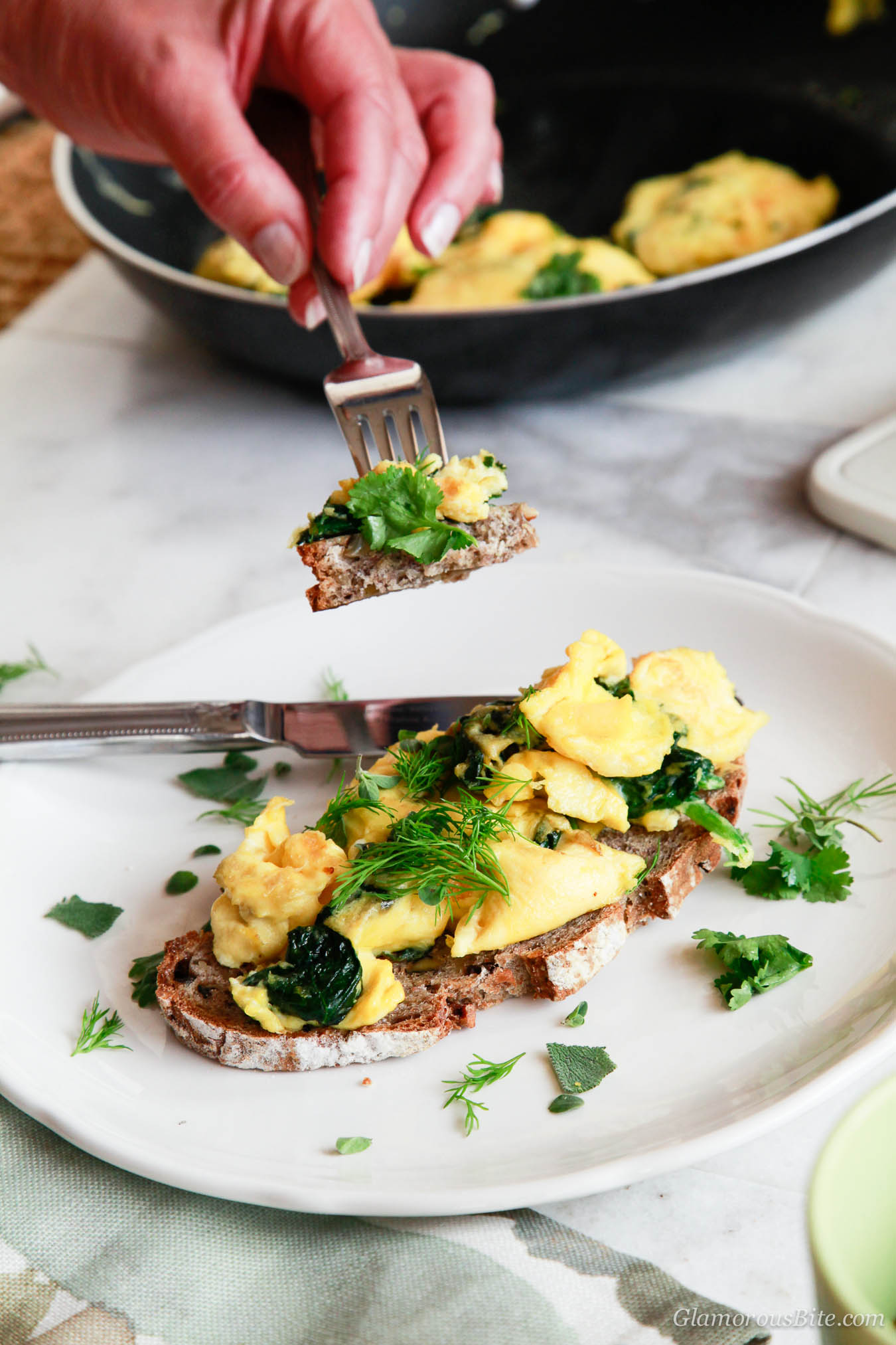 Paleo Scrambled Eggs Herbs