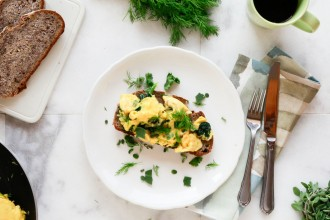 Paleo Scrambled Eggs with Herbs