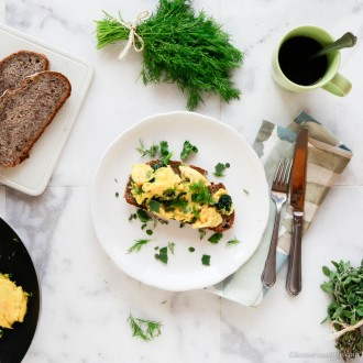 Paleo Scrambled Eggs with Herbs 1