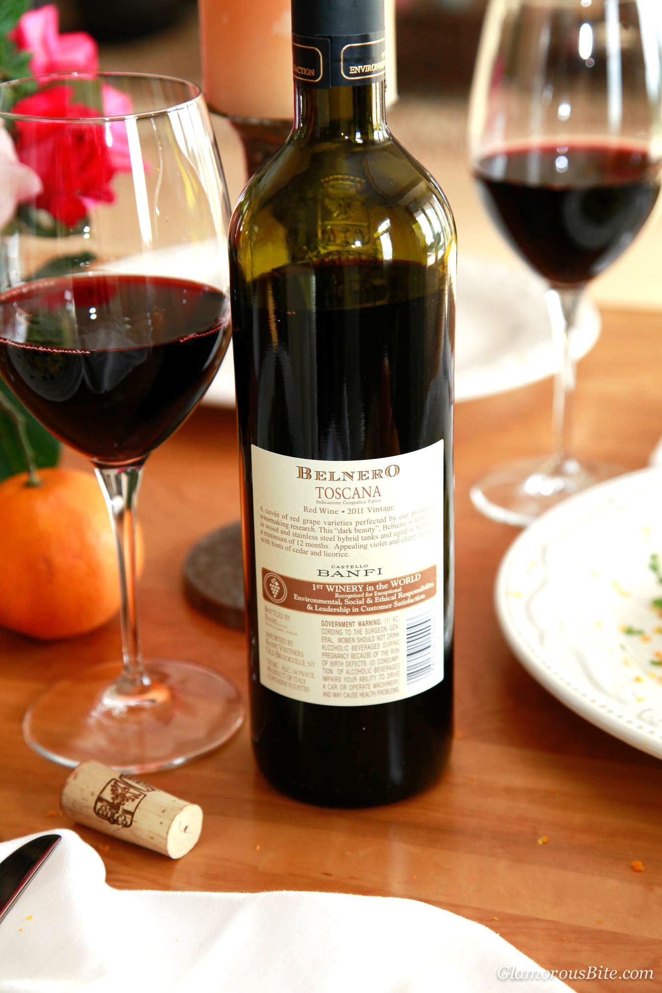 Red Wine Belnero Castello Banfi Italy