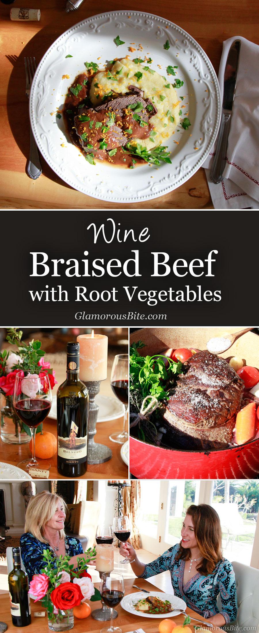Wine Braised Beef Shoulder with Root Vegetables GlamorousBite