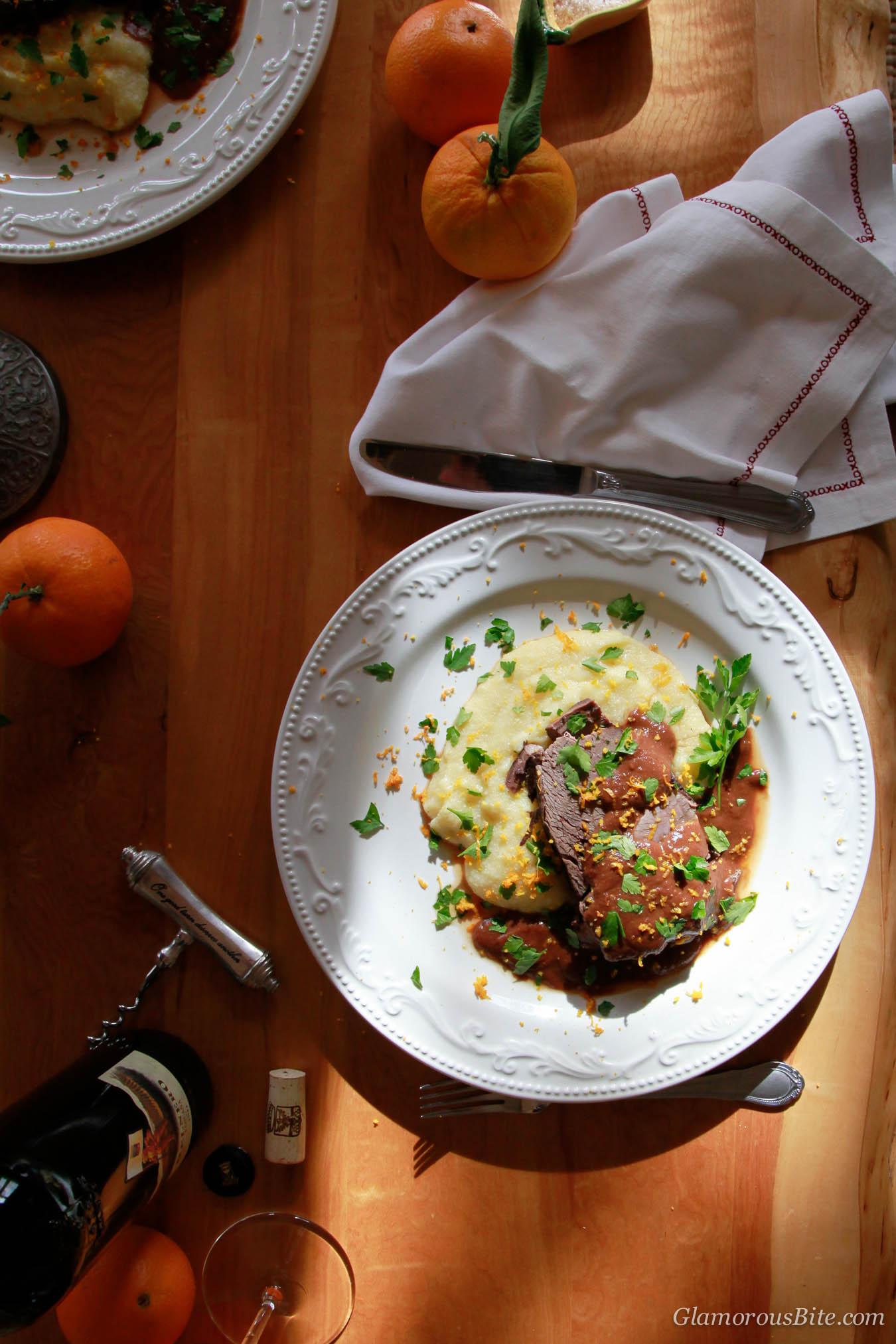 Wine Braised Beef Shoulder with Root Vegetables