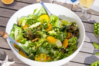 Farmers Market Spring Salad with Lemon Vinaigrette