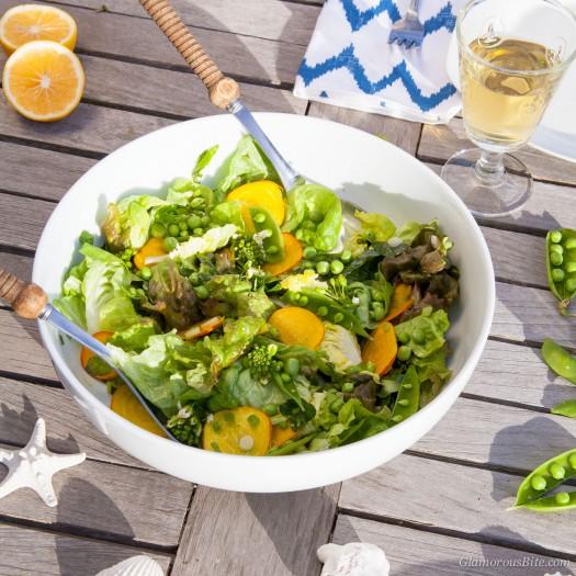 Farmers Market Spring Salad Lemon Vinaigrette